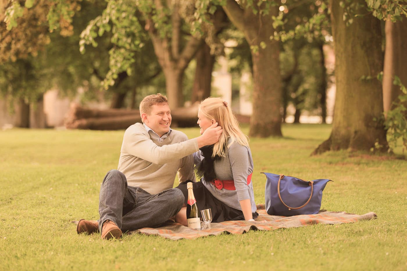 Romantic picnic in Holyrood Park