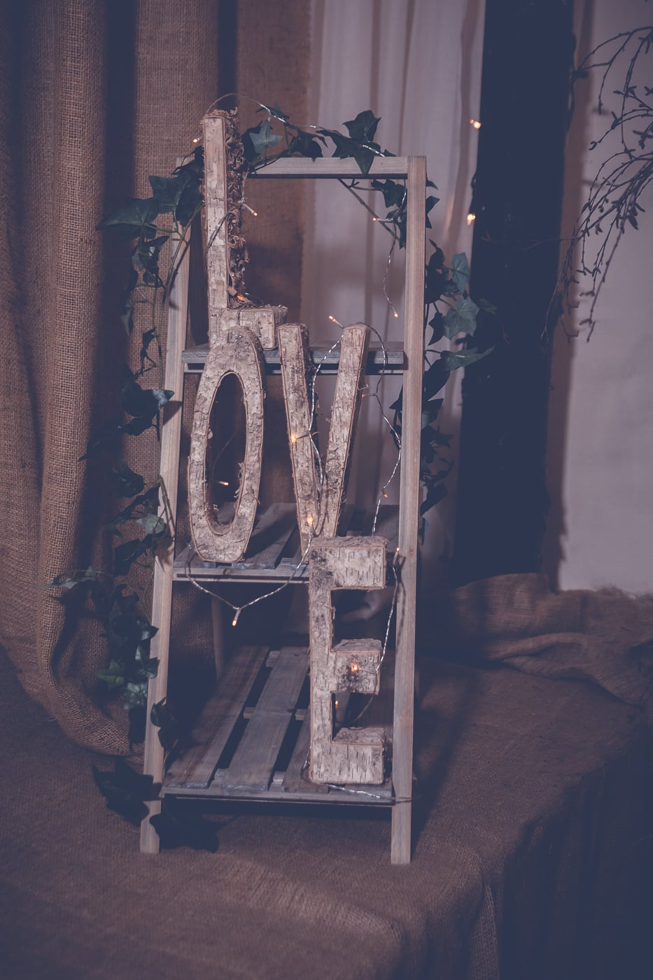 Some rustic wedding decoration at Pratis Farm