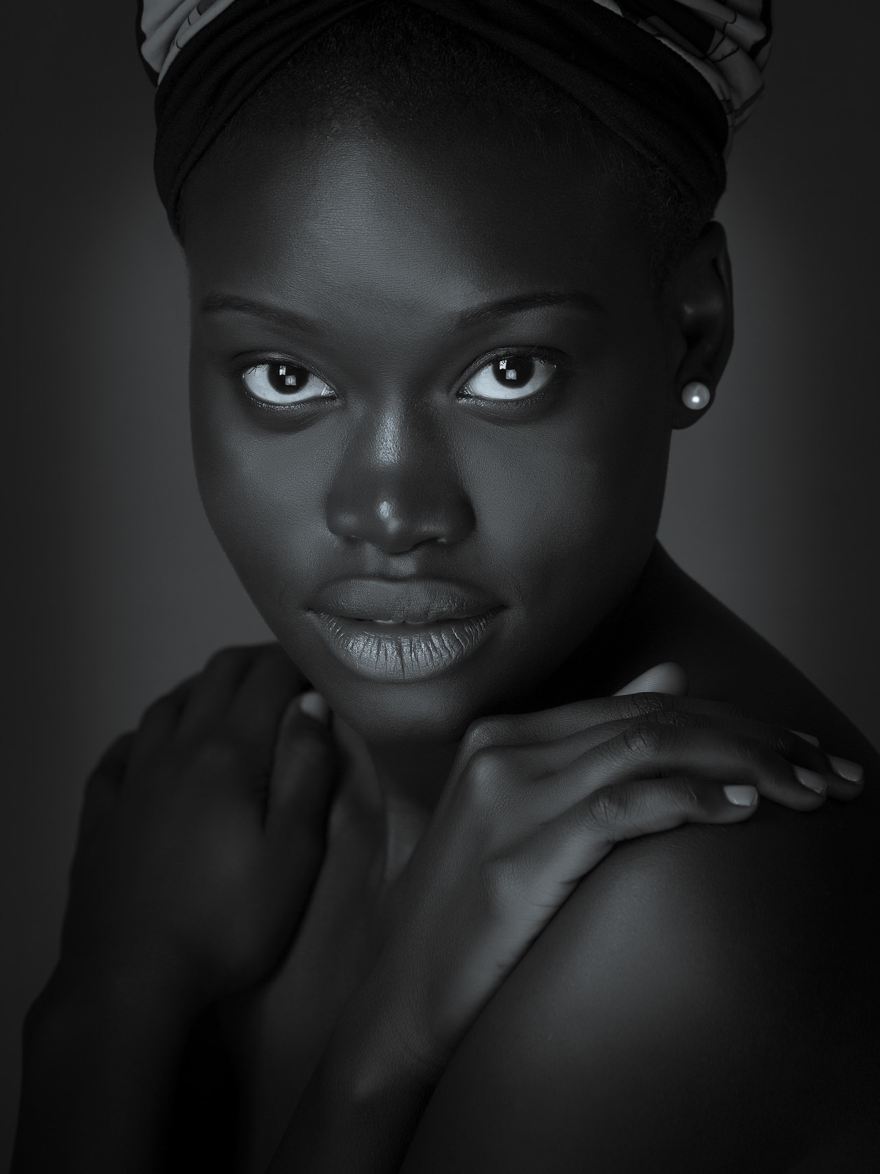 headshot of an African model