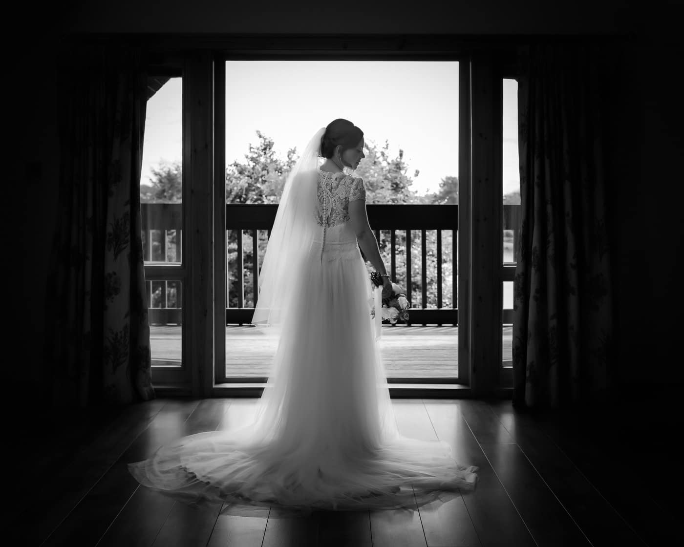 Bride getting ready at Forbes of Kingennynear Dundee Scotland